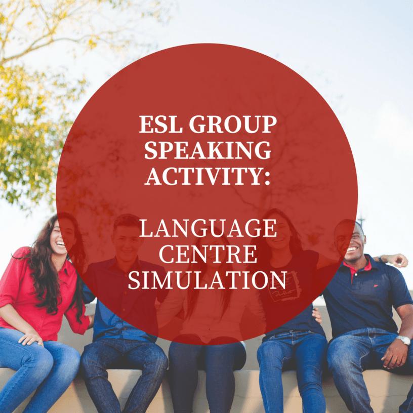 ESL group speaking activity