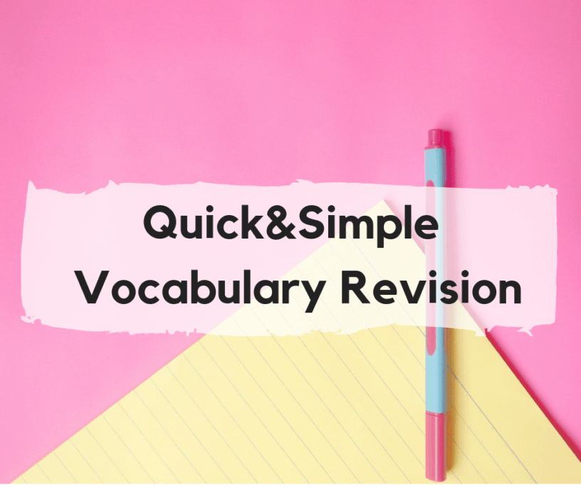 Quick and simple vocabulary revision