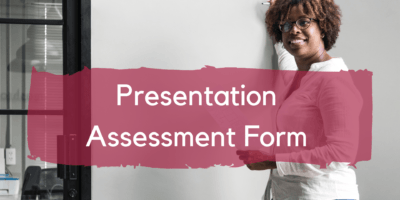 esl presentation assessment form