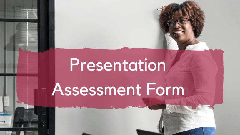 esl presentation assessment form