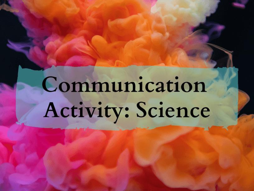 esl communication activity science